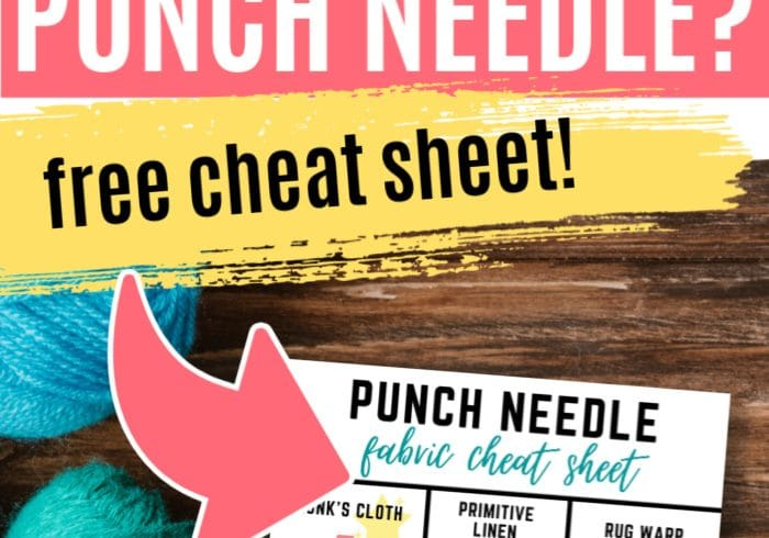 Punch Needle fabric pin
