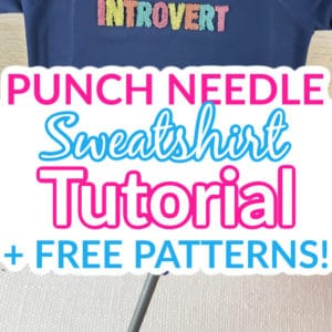 Punch Needle Sweatshirt Pin