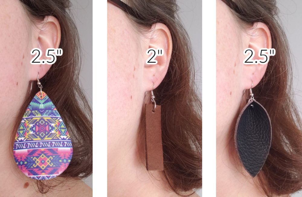 finished DIY leather earrings example