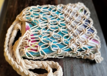 DIY macrame market bag tutorial