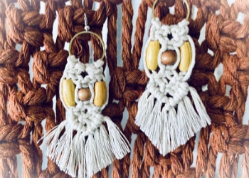 DIY Macrame Earrings