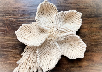 large macrame flower tutorial