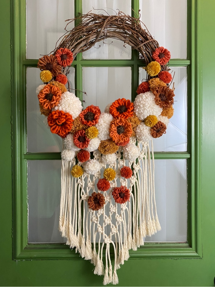 fall macrame wreath