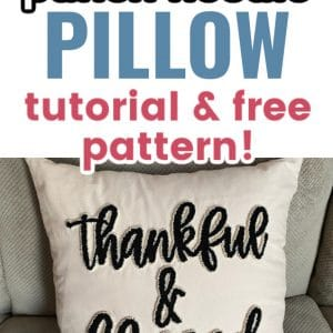 punch needle pillow pin